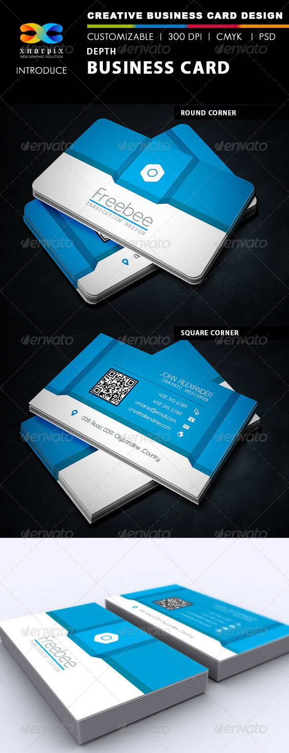 Depth business card adobe photoshop fonts and creative depth business card reheart Gallery