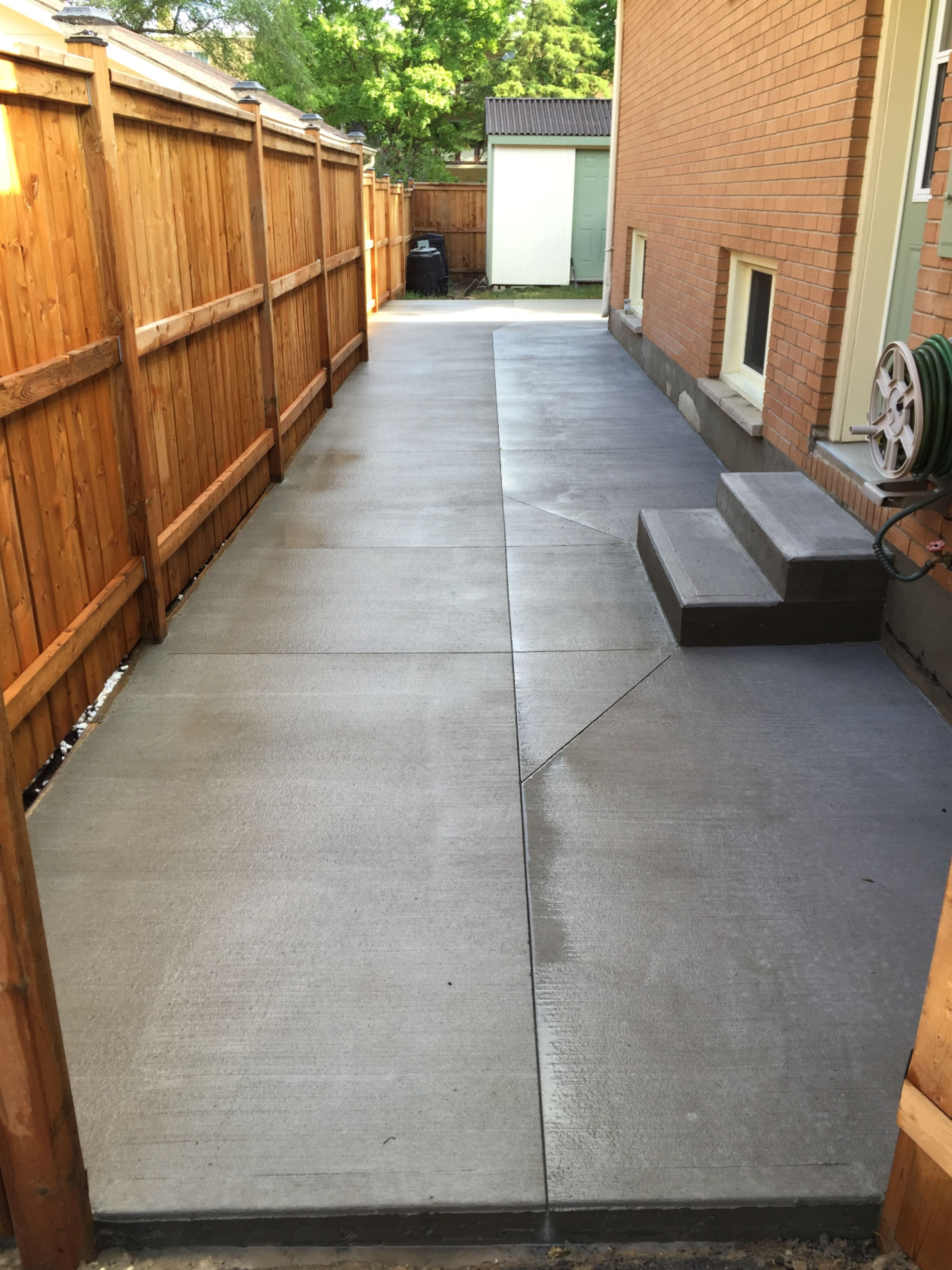 Brushed Concrete Walkway in London Ontario in 2020 (With
