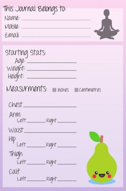 45 ideas fitness journal printable workout log food diary #food #fitness #fitnesslog
