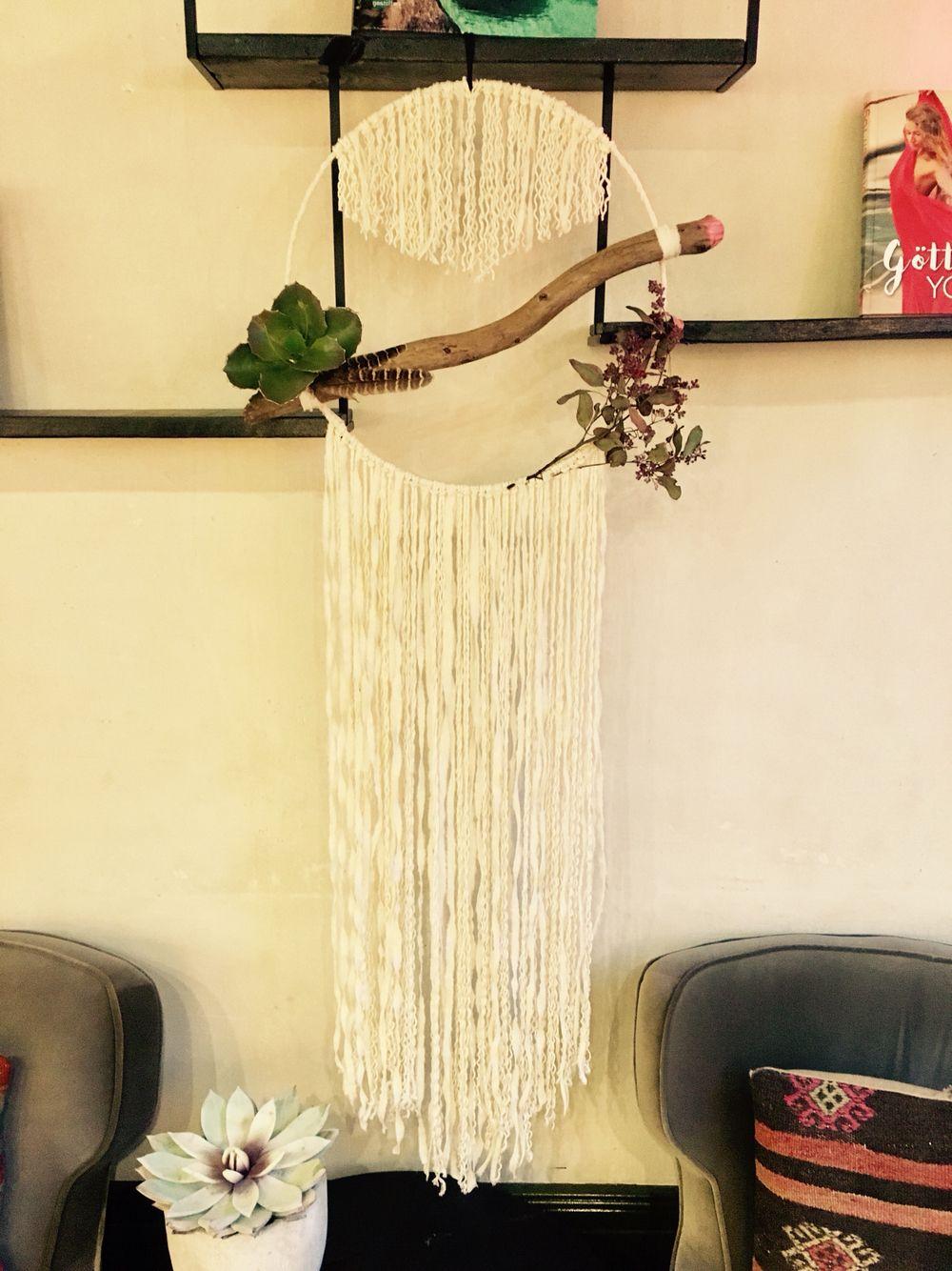"dreamcatcher ""wooden snake"" gypsy homedecor wallhanging  made by woovenstudio.de berlin"