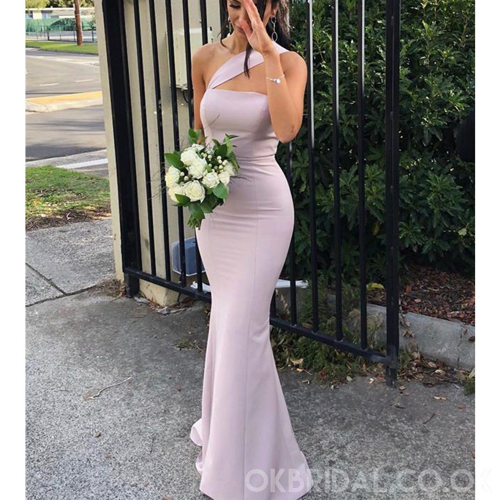 Long Satin Mermaid Bridesmaid Dress Formal Wedding Evening Party Prom Gowns Plus