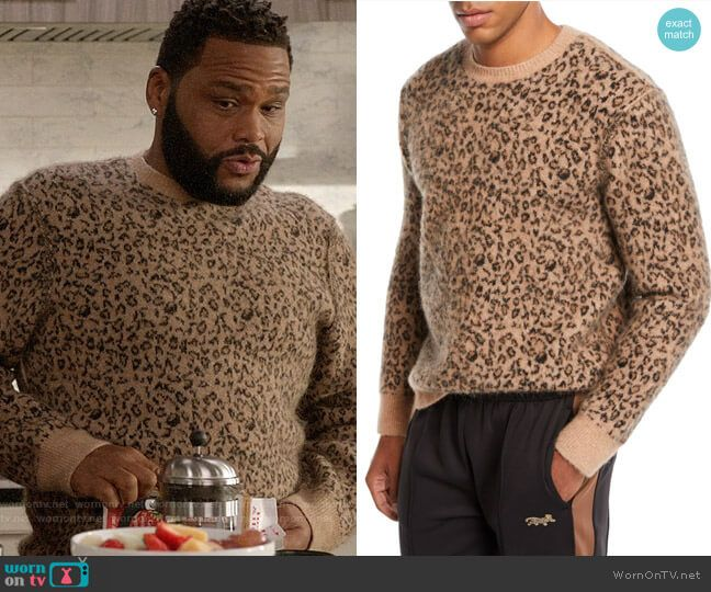 c353f48f16 Andre s leopard print sweater on Black-ish. Outfit Details  https