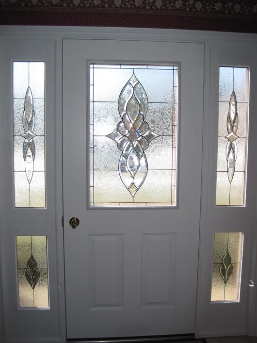 Doors Design: Stained Glass Front Entry Door With Side Panels