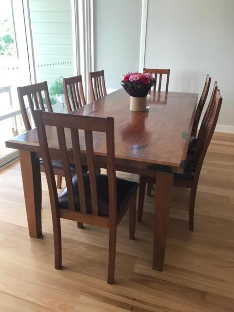 Joya Furniture Victoria Custom Made 8 Solid Redgum High Back