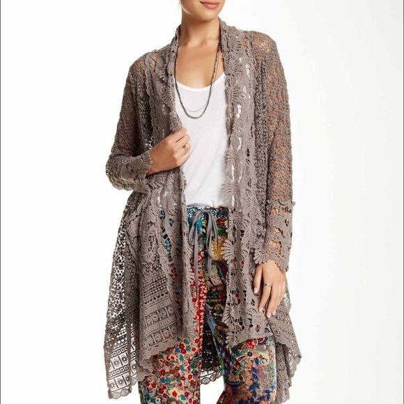 Sold Johnny Was Crochet Bohemian Cardigan Cardigan Sweaters For Women Crochet Lace Jacket Johnny Was
