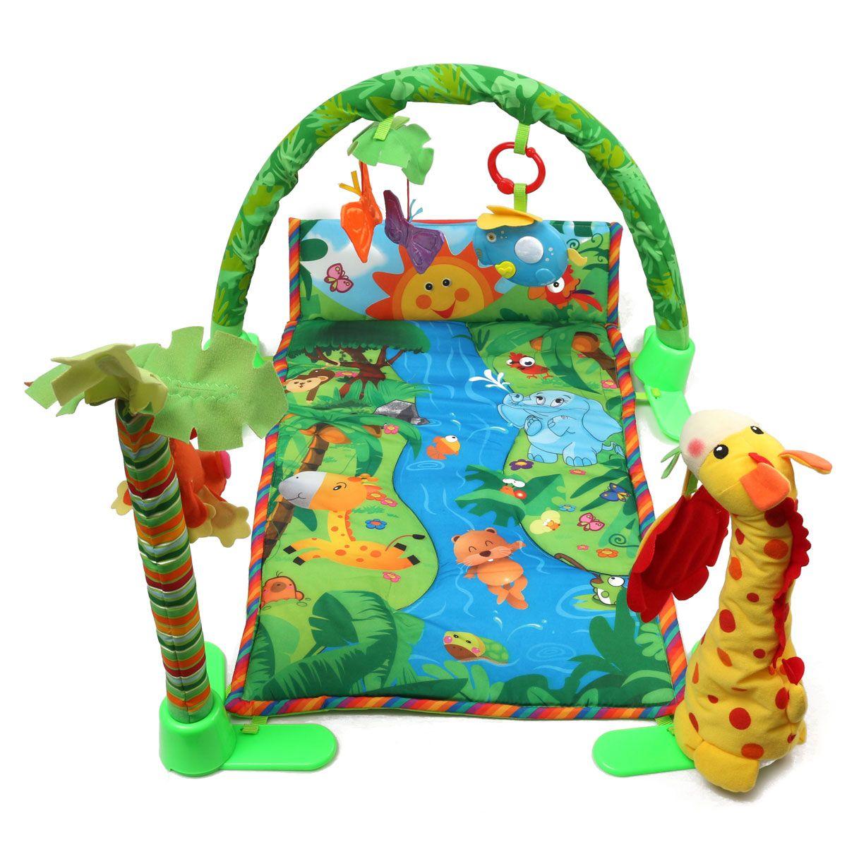 Rainforest Musical Baby Infant Activity Gym Floor Crawl