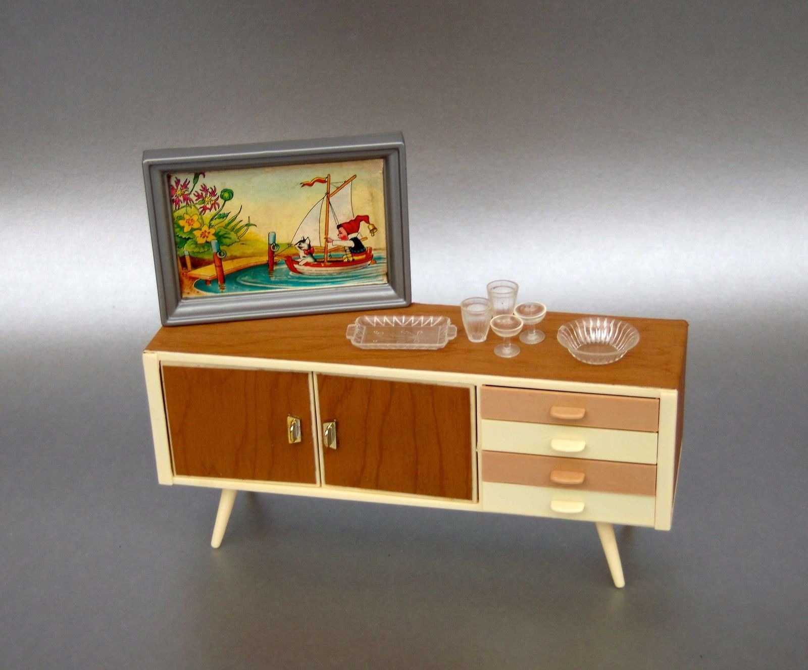 Dollhouse Miniature Mid Century Modern Credenza With Images