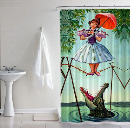 New Haunted Mansion Stretching Disney Print Custom Shower Curtain Size 60 X 72