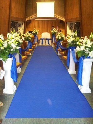 Church decorations royal blue krystal chris wedding pinterest church decorations royal blue junglespirit Images