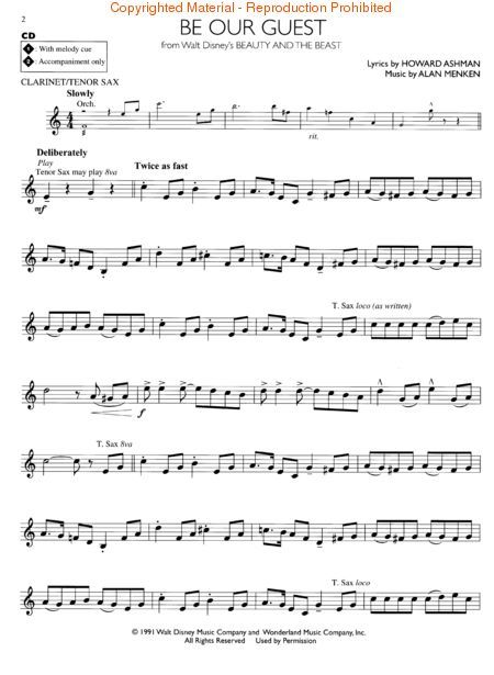 Disney sheet music for clarinet free google search for First house music song