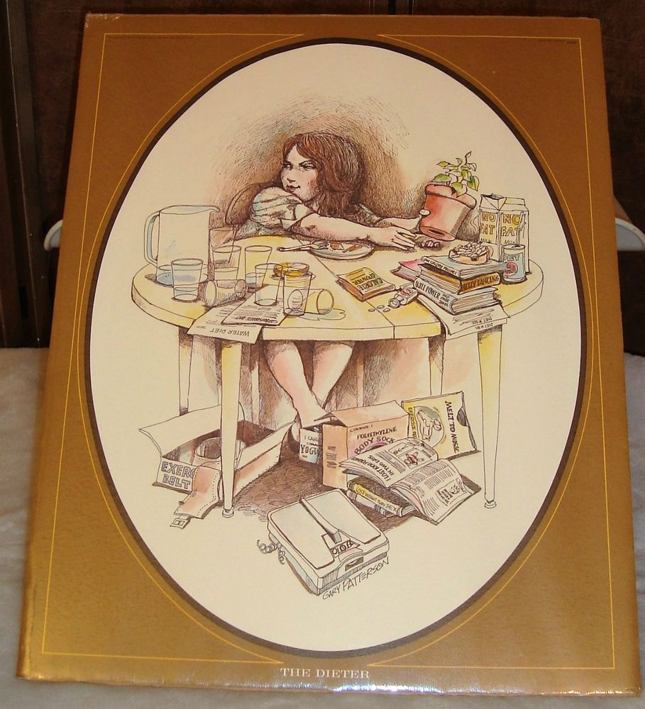 """Details about 1975 GARY PATTERSON CARICATURE PRINT """"THE"""