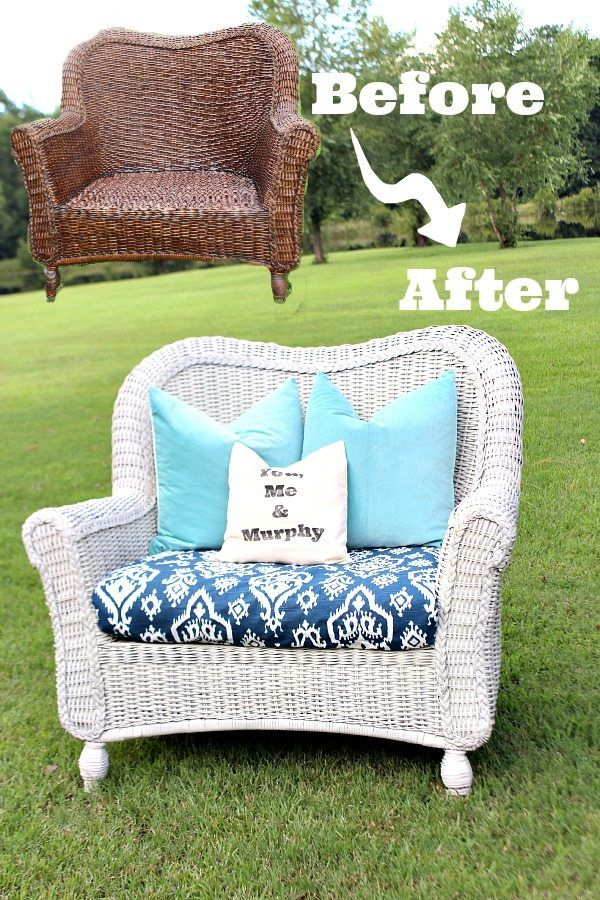 How To Spray Paint Wicker Easy Update For Thrifty Furniture Finds