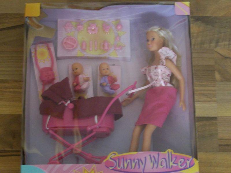 steffi love mit 2 babies und kinderwagen sunny. Black Bedroom Furniture Sets. Home Design Ideas