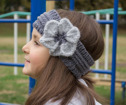 Flower Power Knitted Headband Knitted Headband Easy Knitting And
