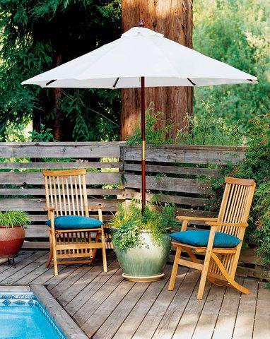 Planter Umbrella Stand Outdoor Ideas Garden Backyard Patio