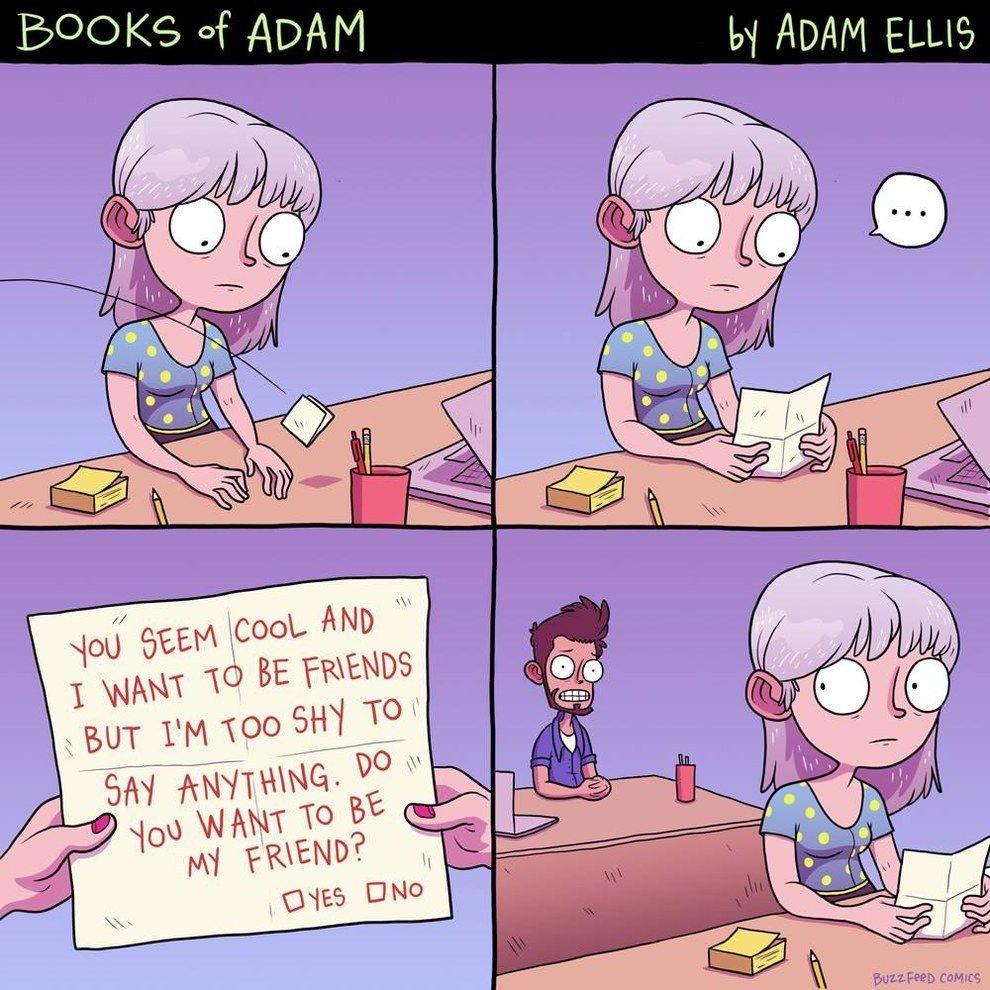 The freedom to awkward. Fun comics, Funny comics, Comics