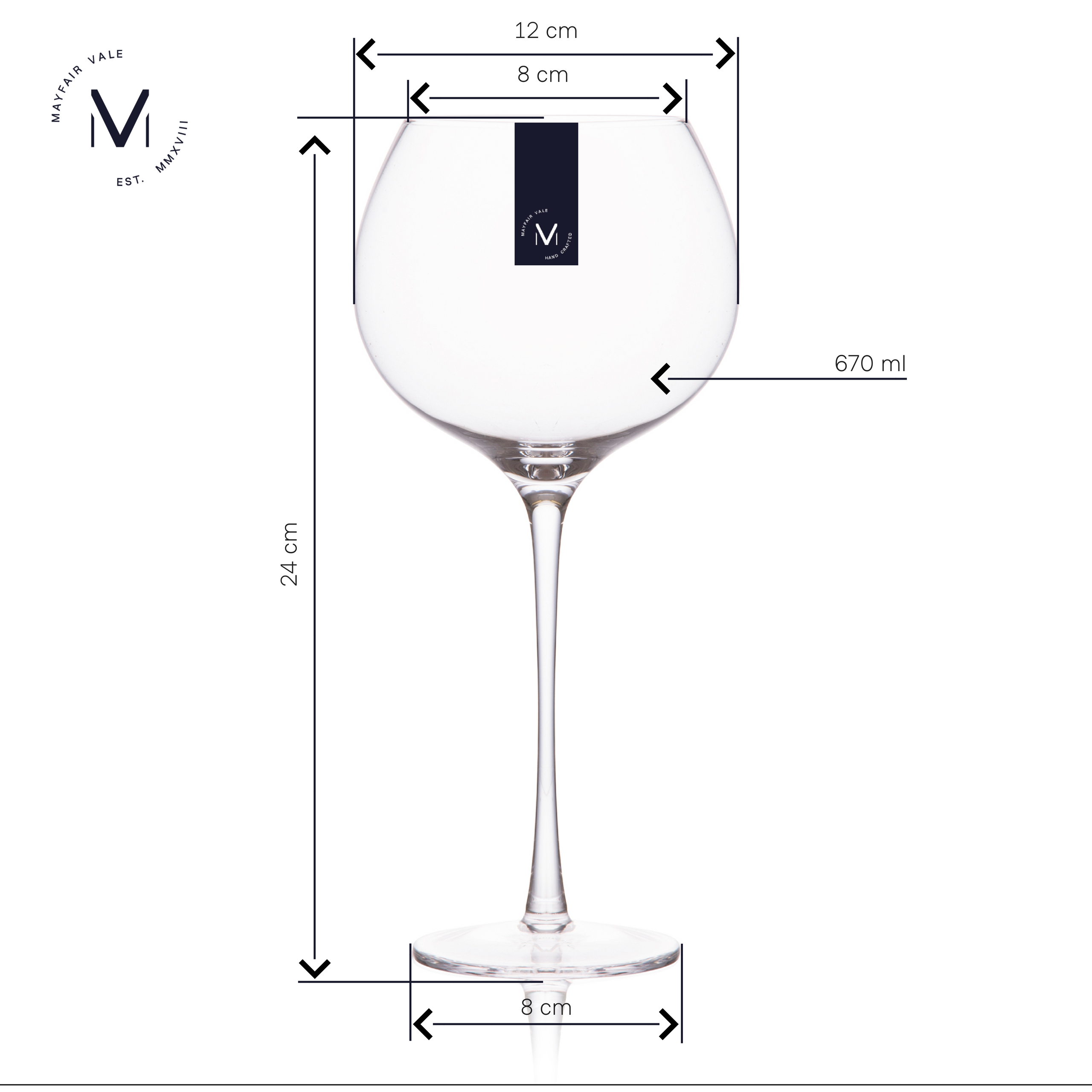 Mayfair Vale Crystal Balloon Gin Glass Set Dimensions Gin And
