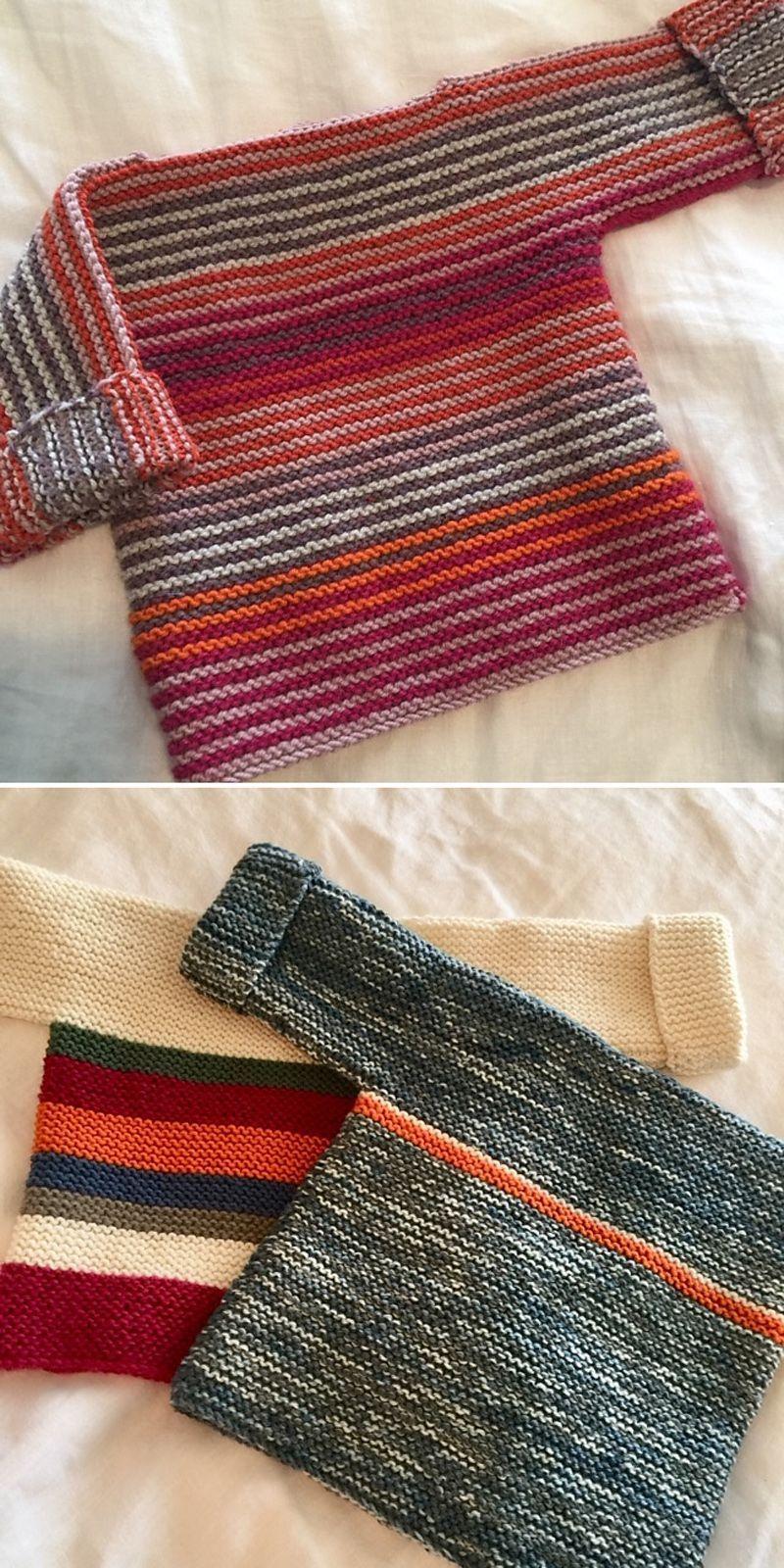 Photo of Französischer Makronen-Babypullover – kostenlose Strickanleitung-   Free Knitti…
