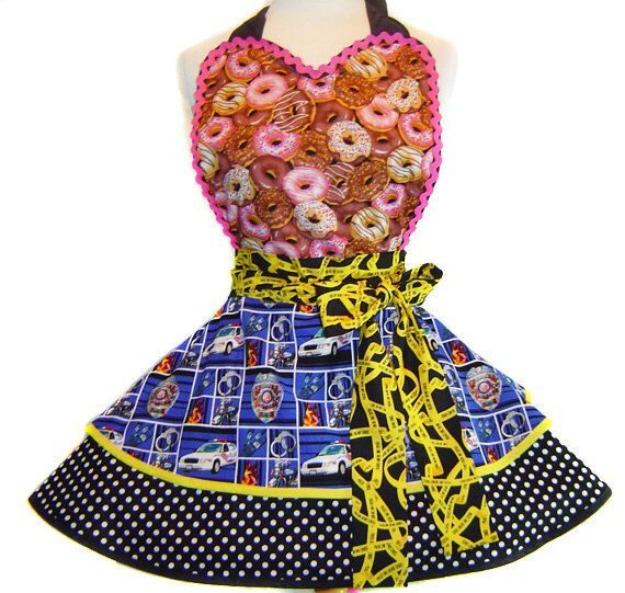 Cops & Donuts Apron-Only from Tie Me Up Aprons-LIMITED EDITION by TieMeUpAprons on Etsy https://www.etsy.com/transaction/244213211