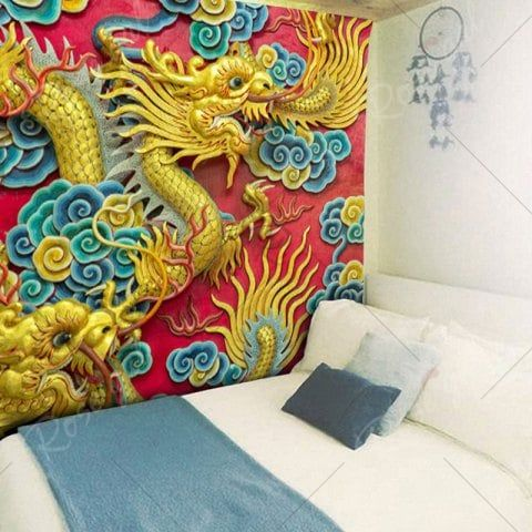 Wall Hanging Chinese Dragon Printed Tapestry | Pinterest | Chinese ...