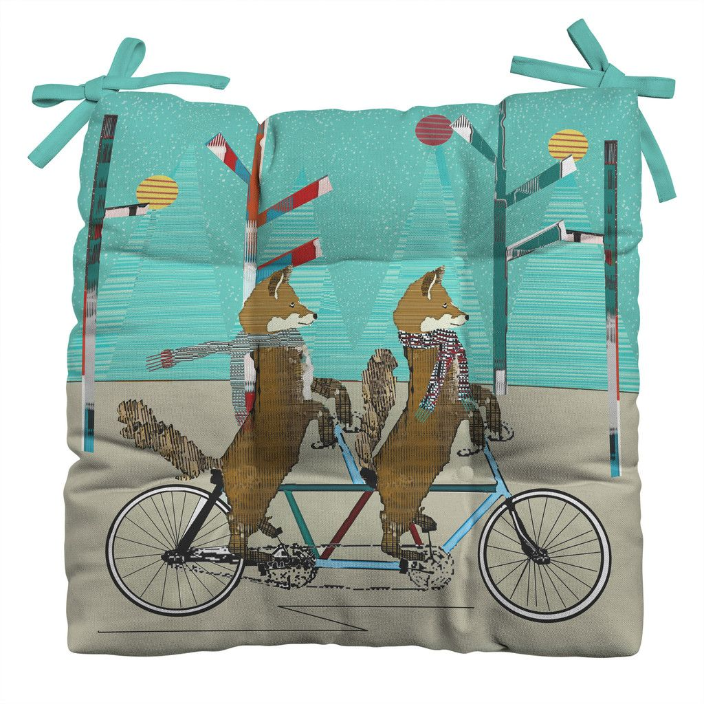Brian Buckley Foxy Days Lets Tandem Outdoor Seat Cushion | DENY Designs Home Accessories