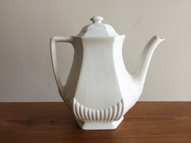 Adams Ironstone White Ironstone Coffee Pot