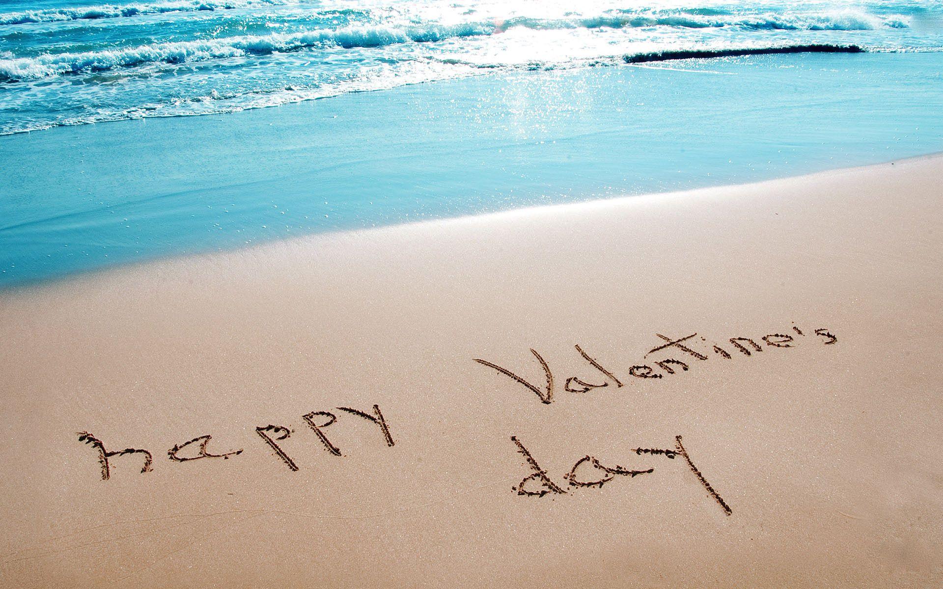 Happy Valentine S Day Beach Happy Valentines Day Beach Image