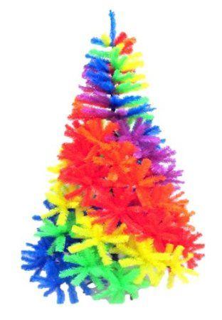 Amazon.com - Rainbow Christmas Tree-- Tie Dye Christmas Tree ...
