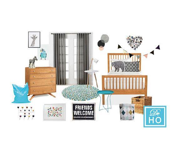 Kids Boy Bedroom project. Interior design service. E by DeHo
