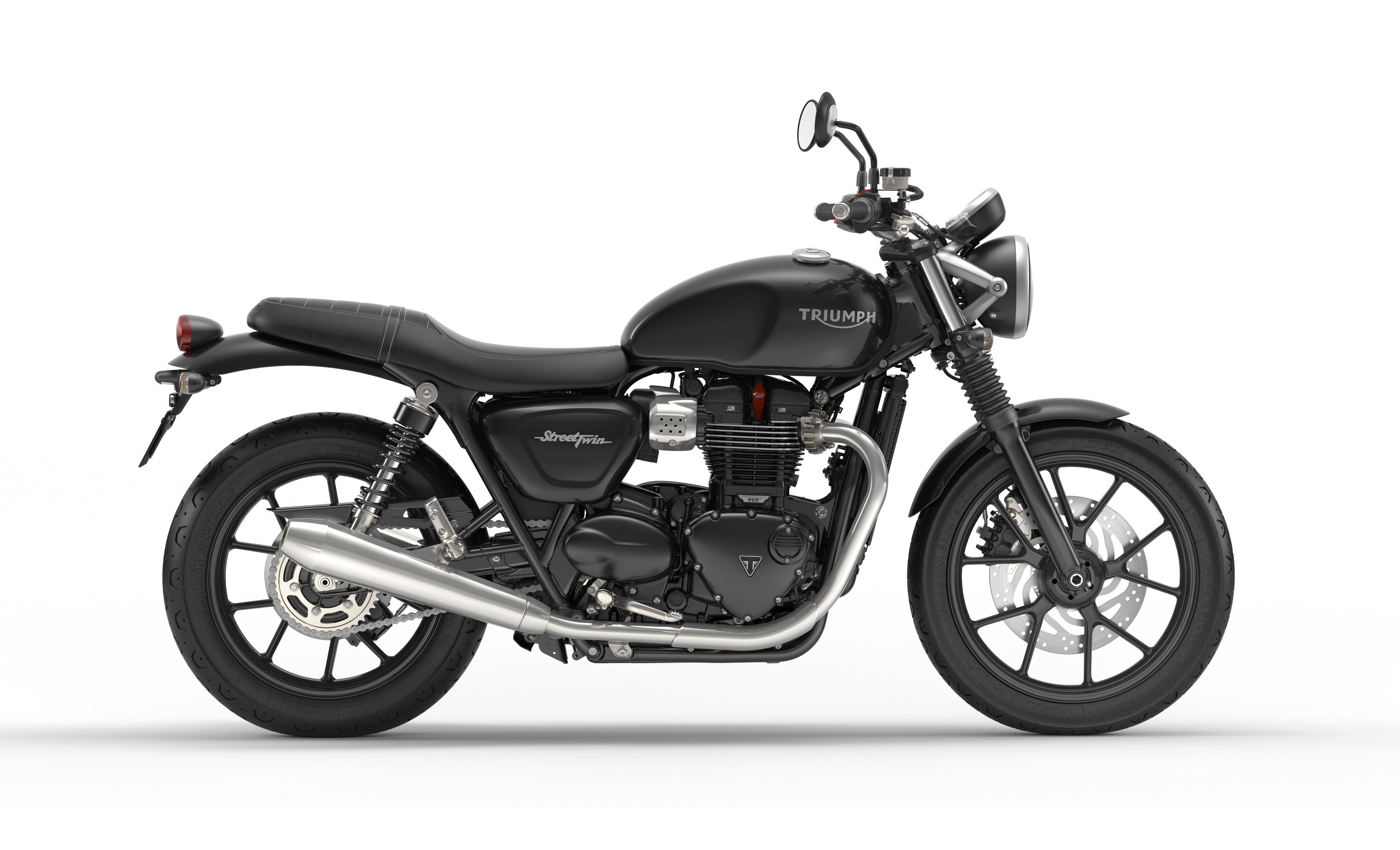 Street Twin Jet Black Right Motorbike Pinterest Triumph