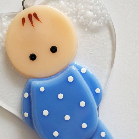117 Angel Blue Christmas Ornament Baptism Shower: First Christmas Glass Ornament, Baby, Little Girl