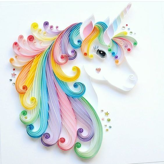 20+ Amazing Paper Quilling Ideas and Crafts #unicorncrafts