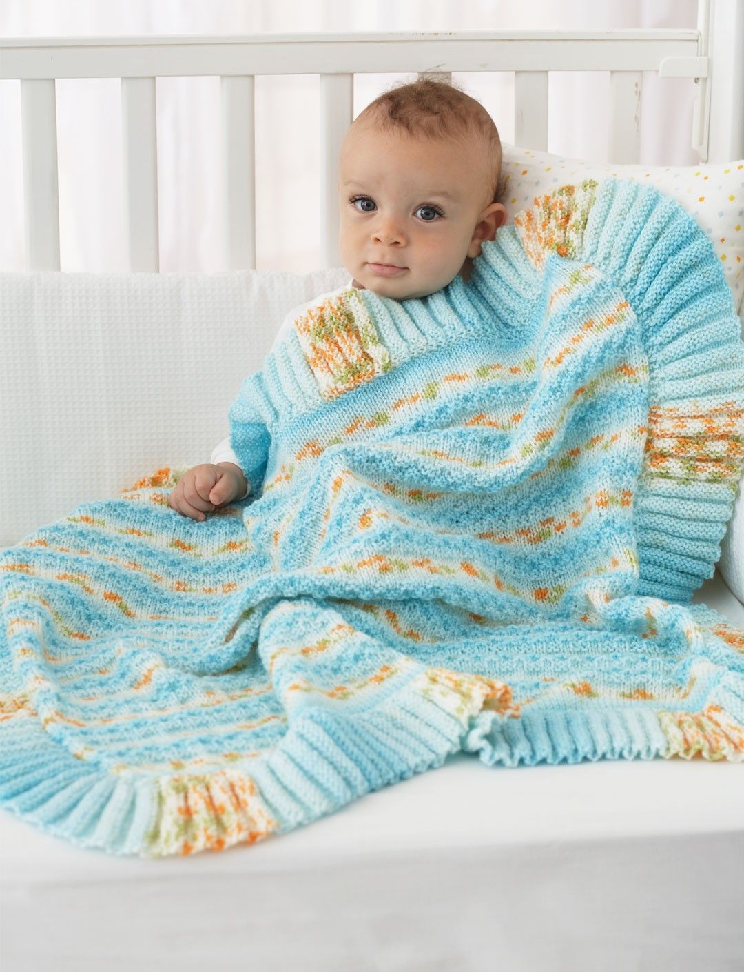 Yarnspirations.com - Bernat Ruffle Edge Blanket - Patterns ...