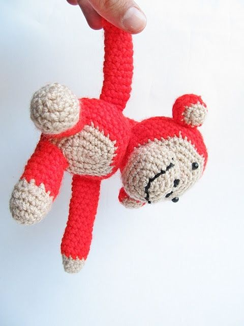 Bees and Appletrees (BLOG): een aapje haken - how to crochet a monkey