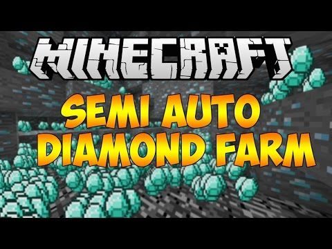 Minecraft 1 8 3: Semi Automatic Diamond Farm Chunk