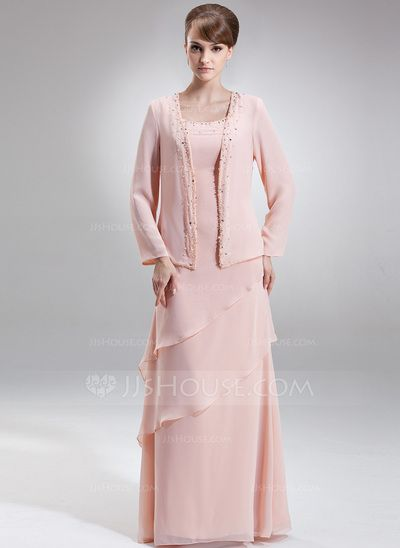 Mother of the Bride Dresses - $142.99 - A-Line/Princess Scoop Neck Floor-Length Chiffon Mother of the Bride Dress With Beading (008006418) http://jjshouse.com/A-Line-Princess-Scoop-Neck-Floor-Length-Chiffon-Mother-Of-The-Bride-Dress-With-Beading-008006418-g6418