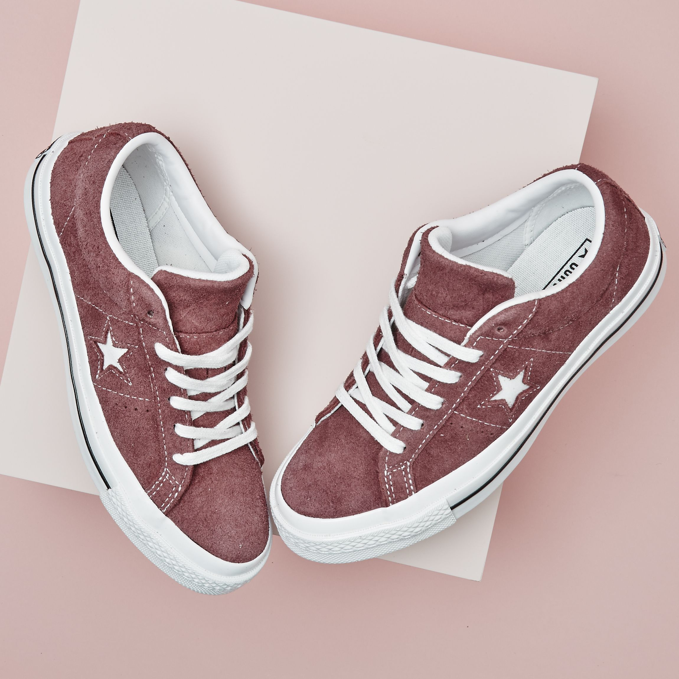 d34d5a9a212 Nothing like a great pair of @converse One Star Trainers in Deep Bordeaux  White #liveyourbestlife #officelovesconverse ##ratedonestar
