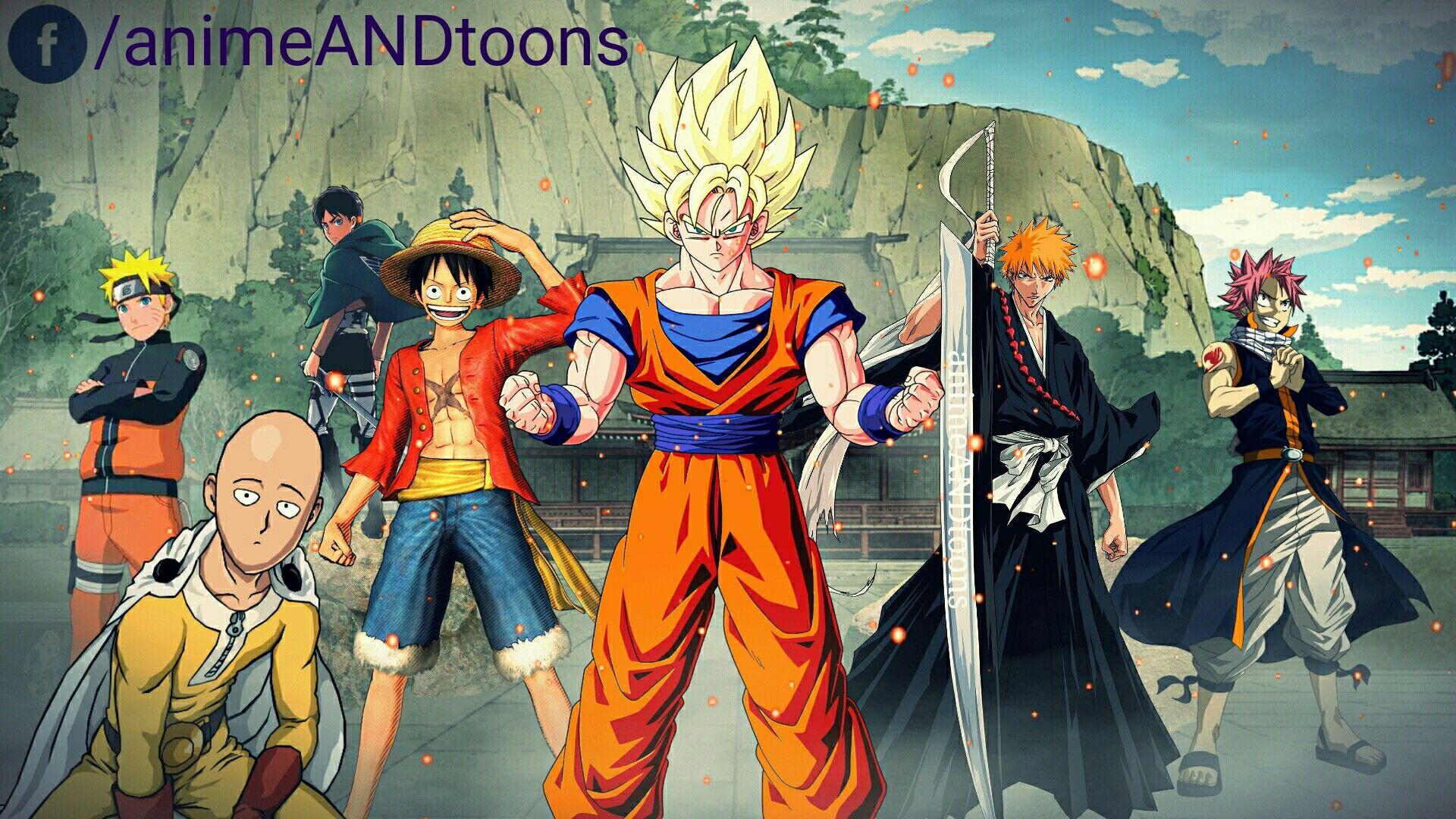 The Strongest Goku Naruto Ichigi Luffy Eren Natsu Saitama Luffy Anime Natsu