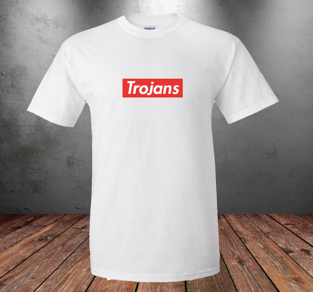 Pin By Trojan College Apparel On Usc University Of Southern California Trojan College Apparel Football Basketball Volleyball College Outfits Mens Tops Mens Tshirts