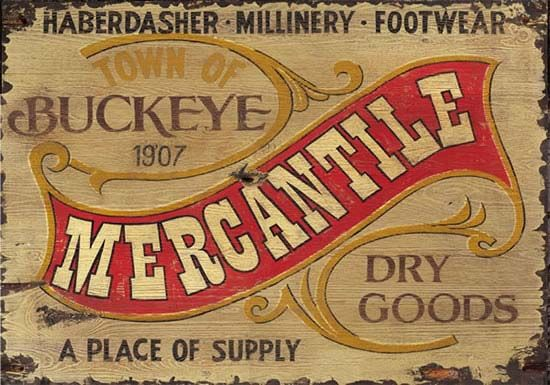 Rustic Vintage Sign Nostalgic Mercantile Wooden Distressed Signs Western Decor