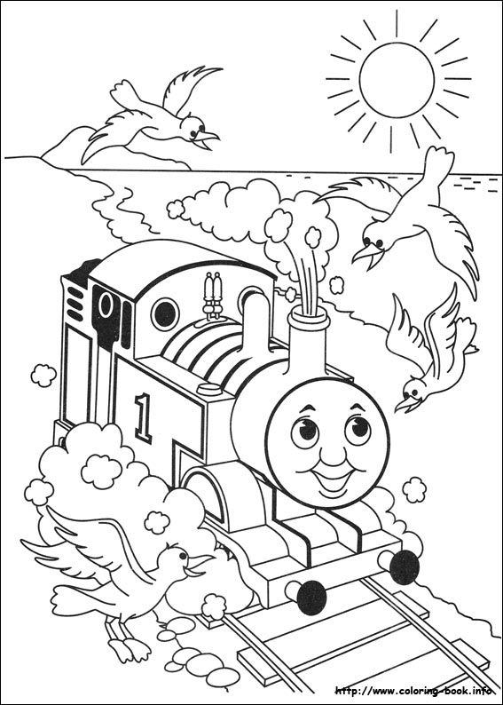 Thomas and Friends coloring picture   Toddlericious   Pinterest ...