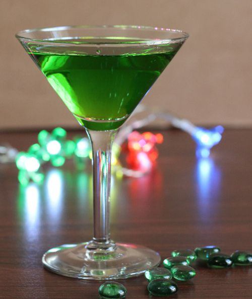 Recipe For The Evil Tongue Cocktail, Which Blends Midori