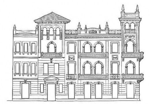 building coloring pages for adults - photo#16