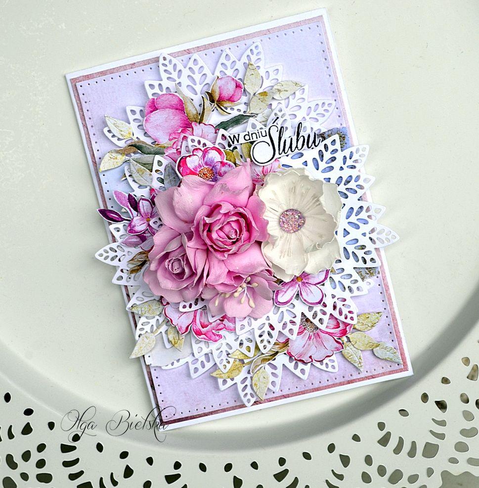 Ukwiecona Kartka Slubna Dt Craft Passion Wedding Cards Handmade Cards Handmade Birthday Cards For Women