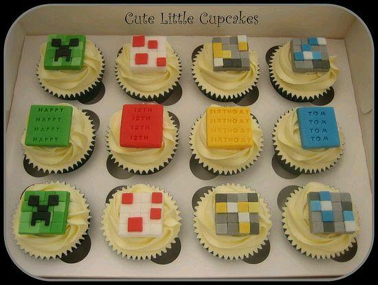 Cupcakes minecraft | GALLETAS Y CUPCAKE | Pinterest | Cup ...