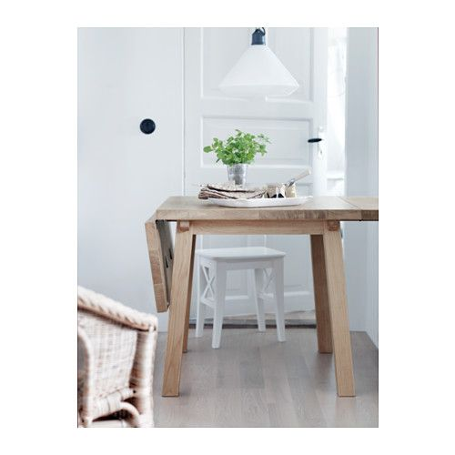M ckelby drop leaf table oak drop leaf table leaf table and ikea table - Round drop leaf table ikea ...