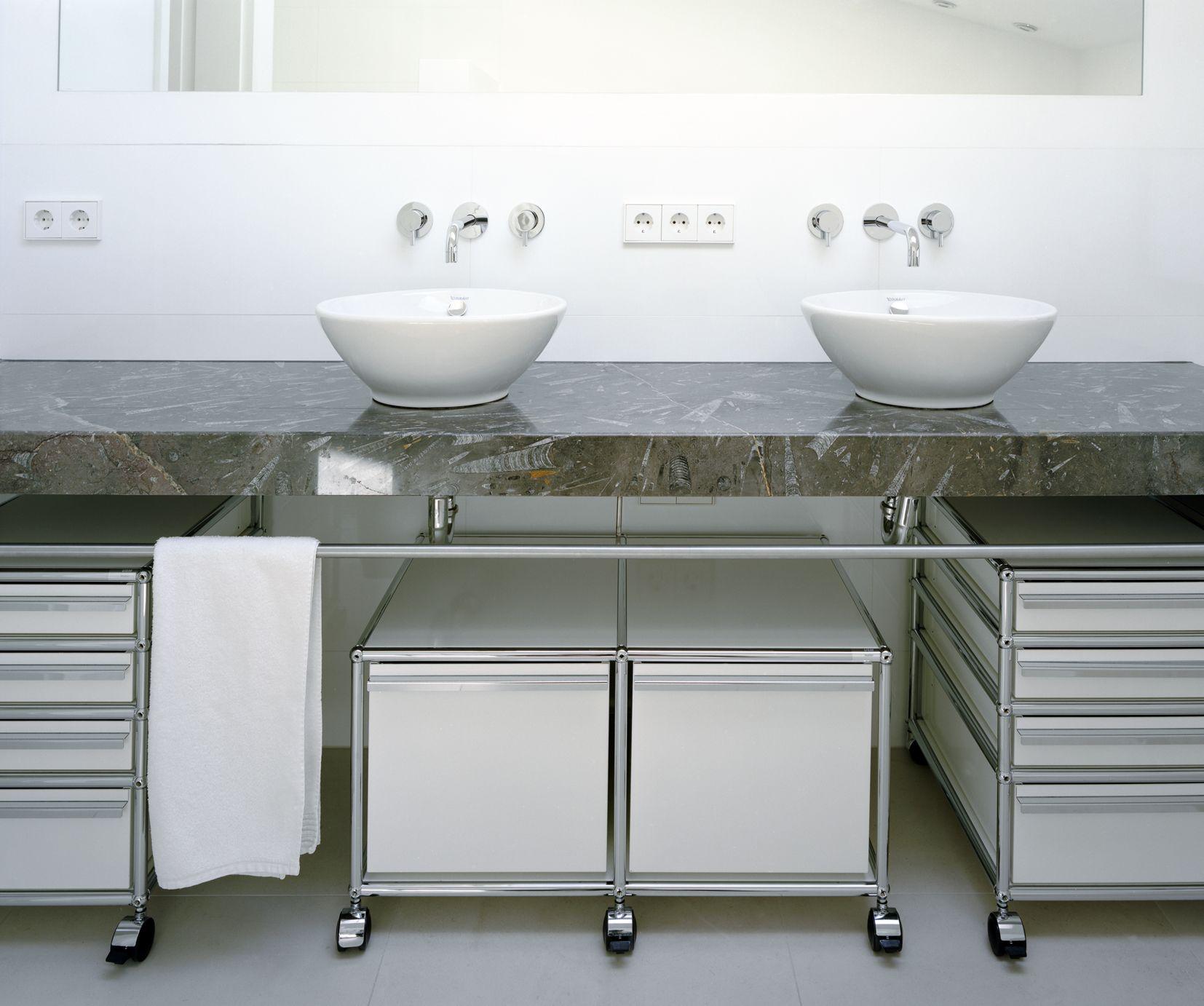 Meubles de rangement usm haller pour salle de bain for Meuble pour salle de bain