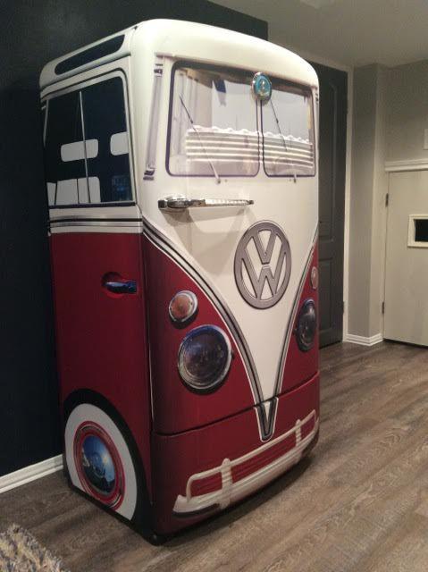 Vintage Vw Bus Agua Refrigerator Wrap Garage Ideas