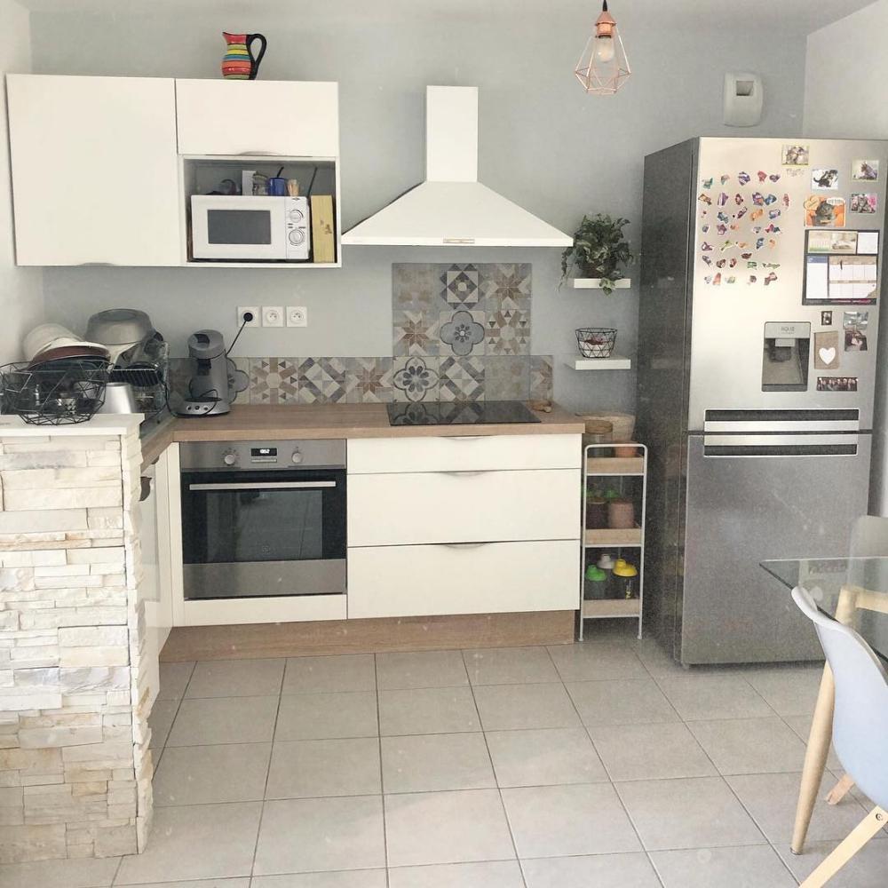 Plan De Travail Cuisinella cuisine de @margx_anna : façades blanc majestic brillant