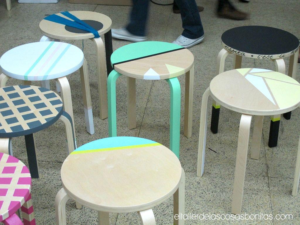 Personalizaci N Muebles Ikea Con Pinturas Y Washi Tape Diy  # Muebles Geometricos
